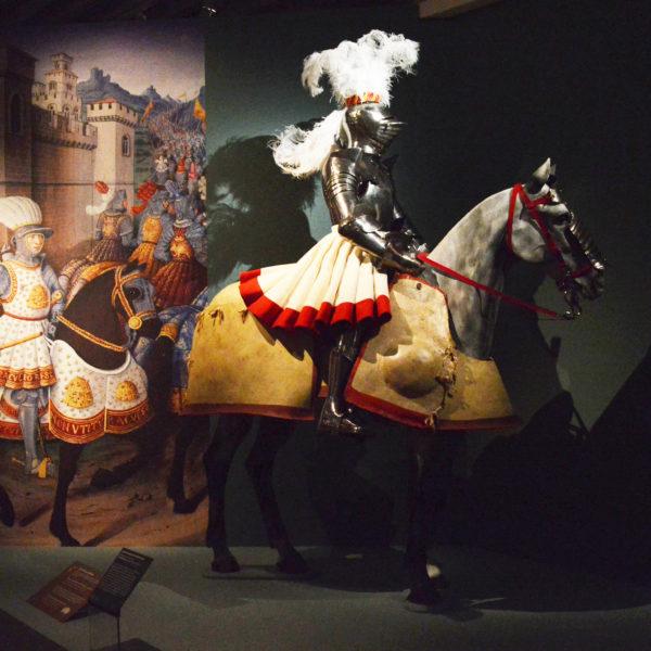 Exposition dans les salles du musée de l'armée aux Invalides