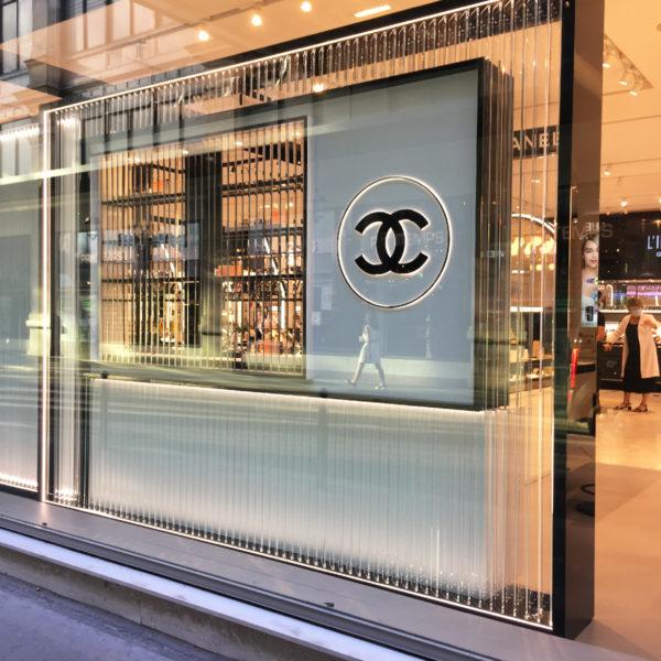 Façade Boutique Chanel Parfum beauté Printemps Haussmann
